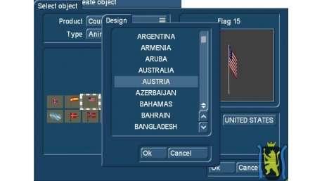 Columbus 2 + 3 Objektpaket Länderflaggen