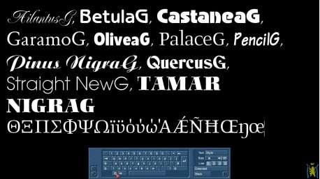 Schriftenpaket 6 Griechisch für Bogart Windows