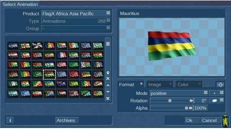 FlaggeX 3 Afrika, Asien, Pazifik