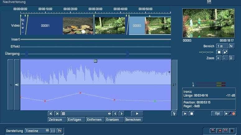 Audio Nachvertonung mit Bogart TimeLine
