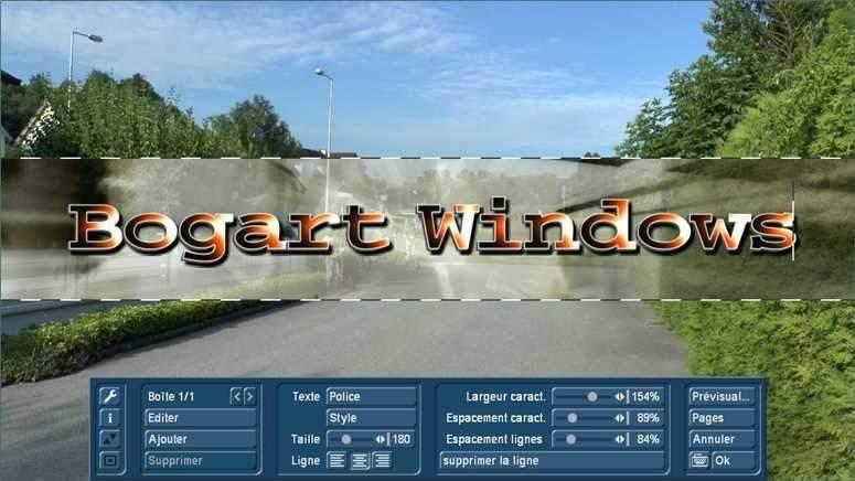 Titre effets sur PC avec Bogart pour Windows