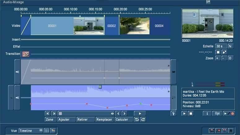 Audio mixage avec Bogart Timeline