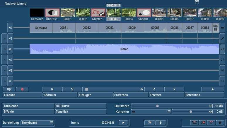 Audio Nachvertonung mit Bogart Storyboard