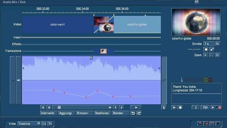 Doppiaggio audio con Bogart Timeline