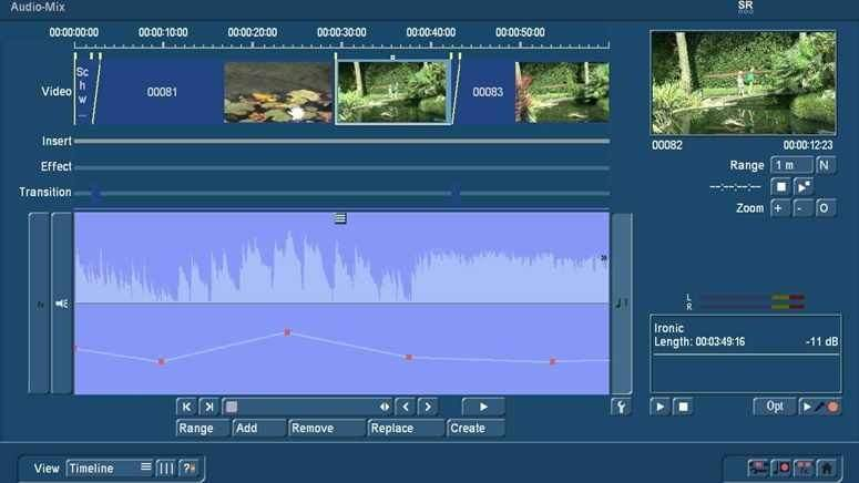 Audiomix with Bogart TimeLine view