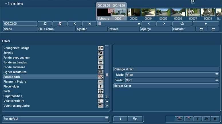 Transitions vidéo avec Bogart sur PC