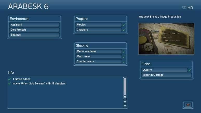 Blu-ray o DVD con produzione Arabesk direttamente sotto Bogart per Windows