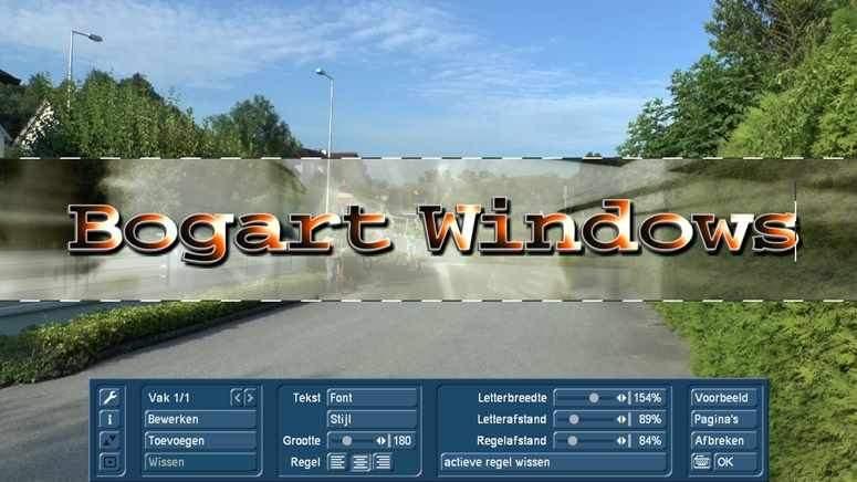 Titel effecten op de PC met Bogart voor Windows