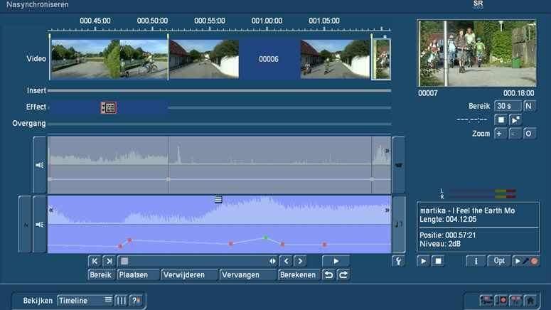 Audio dubbing met Bogart Timeline